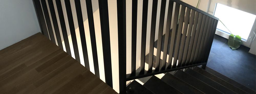 Inox prašno barvana ograja